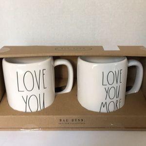Rae Dunn Love you Love you more coffee mugs